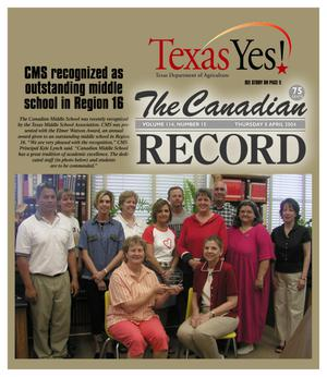 Primary view of object titled 'The Canadian Record (Canadian, Tex.), Vol. 114, No. 15, Ed. 1 Thursday, April 8, 2004'.