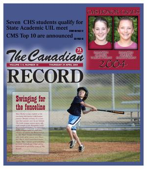 The Canadian Record (Canadian, Tex.), Vol. 114, No. 18, Ed. 1 Thursday, April 29, 2004