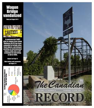 Primary view of object titled 'The Canadian Record (Canadian, Tex.), Vol. 114, No. 24, Ed. 1 Thursday, June 10, 2004'.