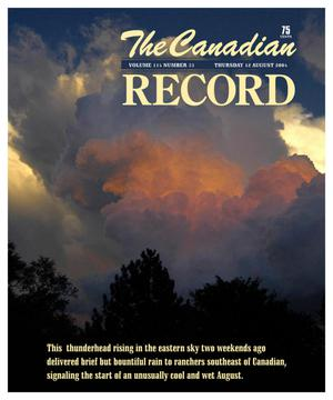 Primary view of object titled 'The Canadian Record (Canadian, Tex.), Vol. 114, No. 33, Ed. 1 Thursday, August 12, 2004'.