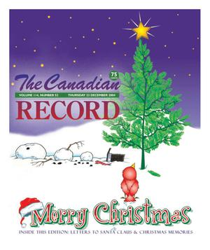 Primary view of object titled 'The Canadian Record (Canadian, Tex.), Vol. 114, No. 52, Ed. 1 Thursday, December 23, 2004'.