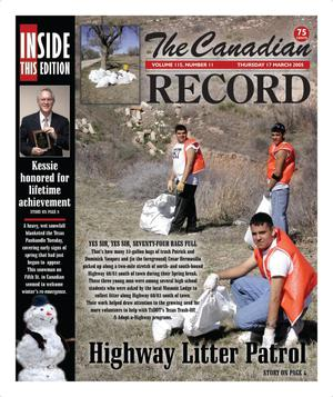 Primary view of object titled 'The Canadian Record (Canadian, Tex.), Vol. 115, No. 11, Ed. 1 Thursday, March 17, 2005'.