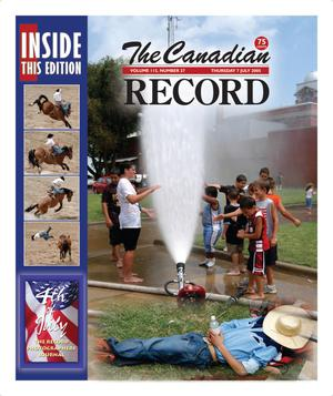 Primary view of object titled 'The Canadian Record (Canadian, Tex.), Vol. 115, No. 27, Ed. 1 Thursday, July 7, 2005'.
