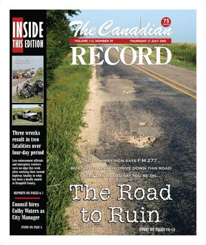 Primary view of object titled 'The Canadian Record (Canadian, Tex.), Vol. 115, No. 29, Ed. 1 Thursday, July 21, 2005'.