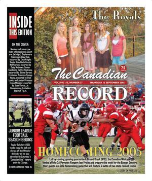 The Canadian Record (Canadian, Tex.), Vol. 115, No. 37, Ed. 1 Thursday, September 15, 2005