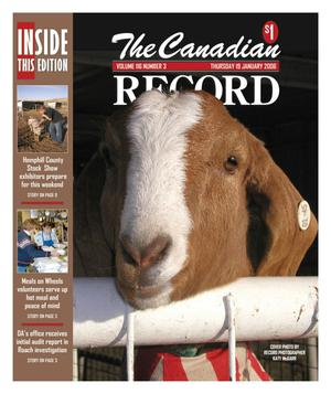 Primary view of object titled 'The Canadian Record (Canadian, Tex.), Vol. 116, No. 3, Ed. 1 Thursday, January 19, 2006'.
