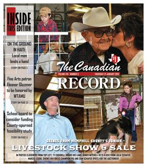 The Canadian Record (Canadian, Tex.), Vol. 120, No. 3, Ed. 1 Thursday, January 21, 2010