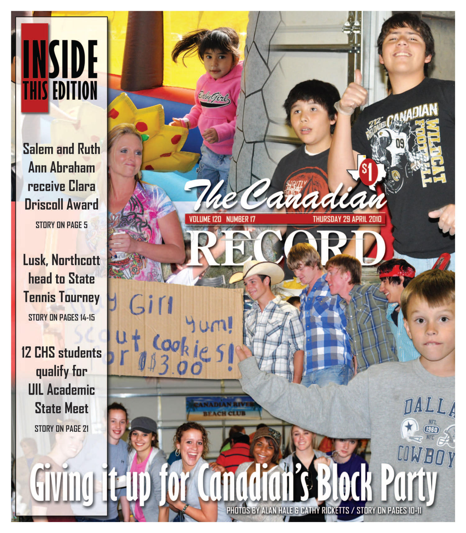 The Canadian Record (Canadian, Tex.), Vol. 120, No. 17, Ed. 1 Thursday, April 29, 2010                                                                                                      [Sequence #]: 1 of 36