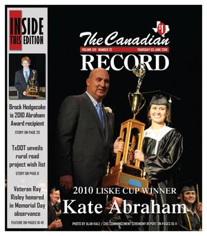 The Canadian Record (Canadian, Tex.), Vol. 120, No. 22, Ed. 1 Thursday, June 3, 2010