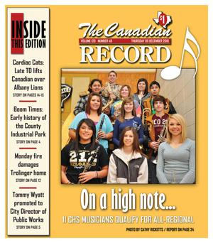 The Canadian Record (Canadian, Tex.), Vol. 120, No. 49, Ed. 1 Thursday, December 9, 2010