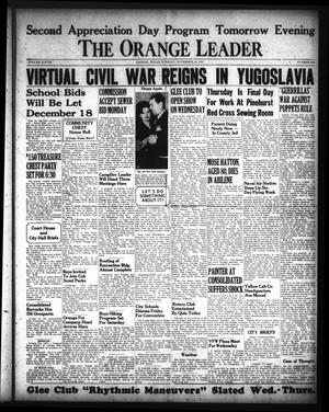 Primary view of object titled 'The Orange Leader (Orange, Tex.), Vol. 28, No. 270, Ed. 1 Tuesday, November 18, 1941'.