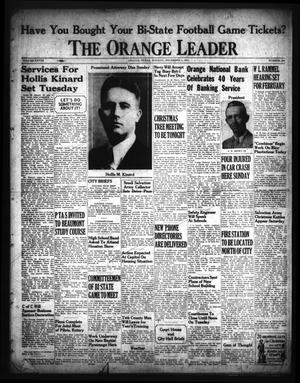 Primary view of object titled 'The Orange Leader (Orange, Tex.), Vol. 28, No. 280, Ed. 1 Monday, December 1, 1941'.