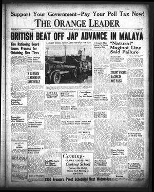 Primary view of The Orange Leader (Orange, Tex.), Vol. 29, No. 15, Ed. 1 Monday, January 19, 1942