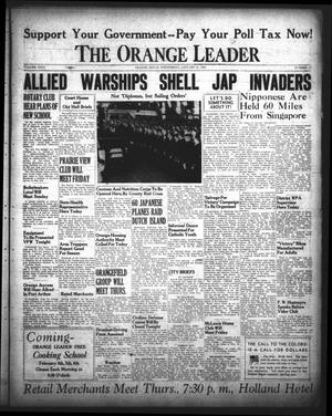 Primary view of object titled 'The Orange Leader (Orange, Tex.), Vol. 29, No. 17, Ed. 1 Wednesday, January 21, 1942'.