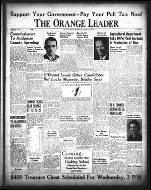 Primary view of object titled 'The Orange Leader (Orange, Tex.), Vol. 29, No. 20, Ed. 1 Sunday, January 25, 1942'.