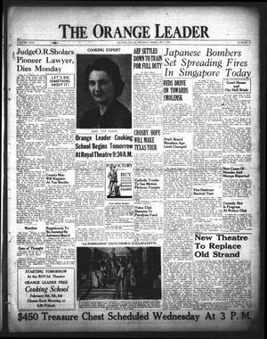 Primary view of The Orange Leader (Orange, Tex.), Vol. 29, No. 29, Ed. 1 Tuesday, February 3, 1942