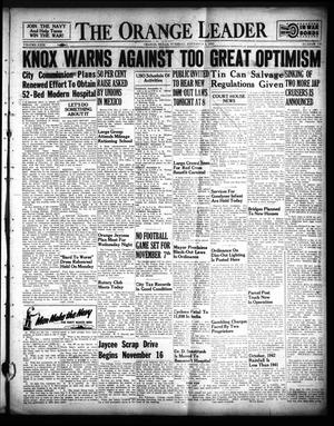 Primary view of The Orange Leader (Orange, Tex.), Vol. 29, No. 230, Ed. 1 Tuesday, November 3, 1942