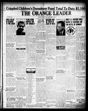 Primary view of object titled 'The Orange Leader (Orange, Tex.), Vol. 31, No. 213, Ed. 1 Sunday, September 10, 1944'.