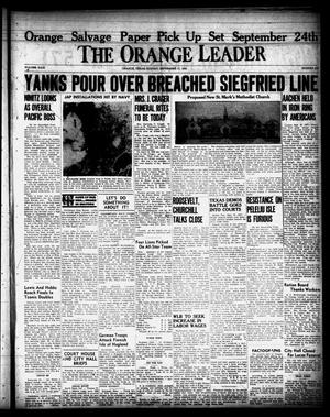 Primary view of object titled 'The Orange Leader (Orange, Tex.), Vol. 31, No. 219, Ed. 1 Sunday, September 17, 1944'.