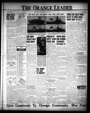 Primary view of object titled 'The Orange Leader (Orange, Tex.), Vol. 31, No. 260, Ed. 1 Sunday, November 5, 1944'.