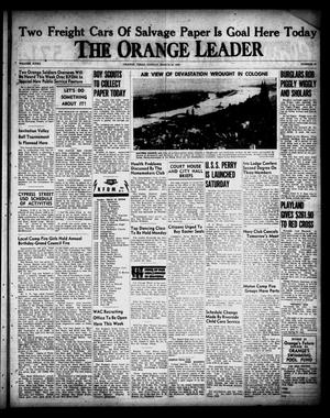 Primary view of object titled 'The Orange Leader (Orange, Tex.), Vol. 32, No. 65, Ed. 1 Sunday, March 18, 1945'.
