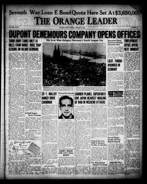 Primary view of object titled 'The Orange Leader (Orange, Tex.), Vol. 32, No. 66, Ed. 1 Monday, March 19, 1945'.