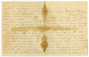 Primary view of object titled '[Letter from Cora M. Dodson to Mary Ann Moore and Family, November 24, 1907]'.