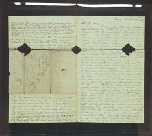 Primary view of object titled '[Letter from H. S. Moore to J. and Ziza Moore, February 8, 1850]'.