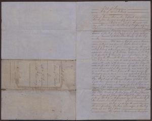 Primary view of object titled '[Bill of Sale of a Slave Named Adam (or Tircis), December 15, 1859]'.