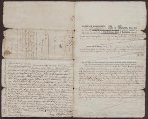 Primary view of object titled '[Bills of Sale of a Slave Named Nancy, June 18, 1838]'.