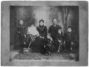 [Photograph of the Schreck Family]