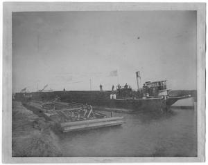 [Photograph of the First Boat Through a New Canal, January 24,1908]