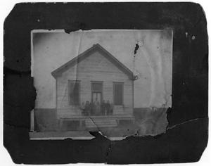 [Photograph of Students and Teacher in Front of the Farm School, 1906]