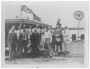 [Photograph of Men in Front of a Texaco Station in Port Arthur, Texas, June 22, 1932]