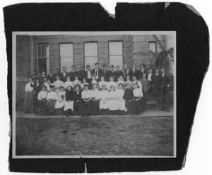 Primary view of object titled '[Photograph of Port Arthur High School Students, 1908-1909]'.