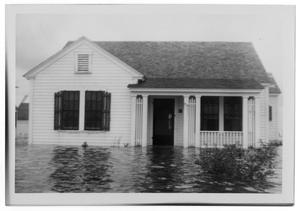 Primary view of object titled '[Photograph of Flooded House, 1943]'.