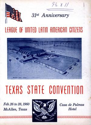 [Texas LULAC 31st Annual National Convention Booklet - 1960]