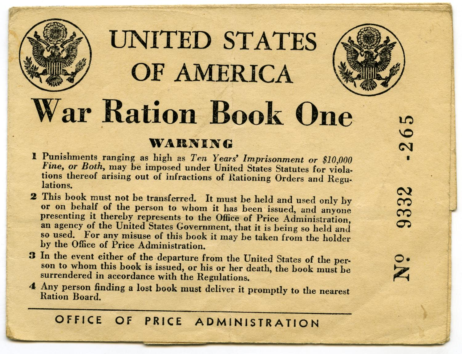 [Frank Latlip, Senior's War Ration Book One]                                                                                                      [Sequence #]: 1 of 3