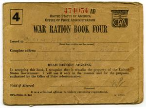 [Mary Louise Latlip's War Ration Book Four]