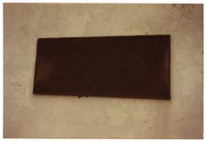 Primary view of object titled '[Santa Anita Restaurant, plaque]'.