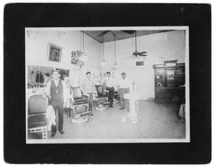 Primary view of object titled '[Lopez Barber Shop, 1927]'.