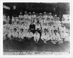 Primary view of object titled '[Rice Hotel employees]'.