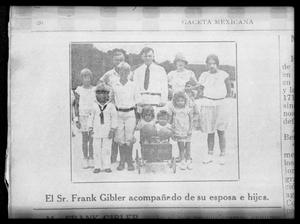 Primary view of object titled '[Newspaper clipping about Frank Gibler]'.