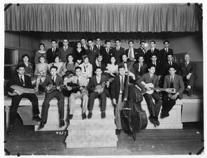 Primary view of object titled '[Los Amigos Glee Club and Jones Center Serenaders]'.