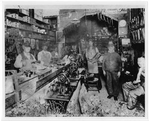 Primary view of object titled '[Scordino Boot Shop, 1927]'.