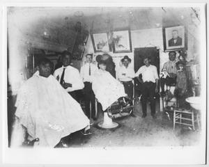 Primary view of object titled '[La Preferencia Barber Shop]'.