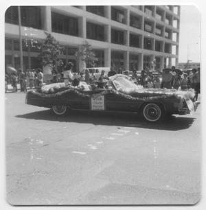 Primary view of object titled '[Decorated Fiestas Patrias car]'.