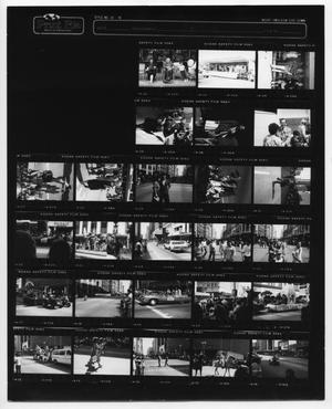 Primary view of object titled '[Fiestas Patrias parade contact sheet]'.