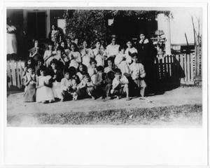 Primary view of object titled '[Catechism school students with nun]'.