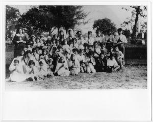 Primary view of object titled '[Catechism class at St. Vincent's cemetery]'.